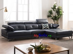sofa góc chữ L, sofa da đẹp sang trọng