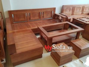 ghế sofa gỗ tự nhiên, sofa gỗ hiện đại