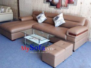 mẫu ghế sofa da đẹp, sofa góc chữ L đẹp