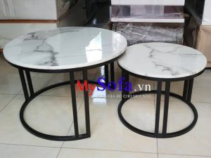bàn sofa tròn đẹp giá rẻ