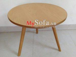bàn sofa gỗ mặt tròn