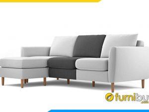 Sofa nỉ đẹp phối màu trẻ trung FBS-20203