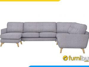 Sofa góc nỉ FB20059 vừa đẹp vừa sang trọng