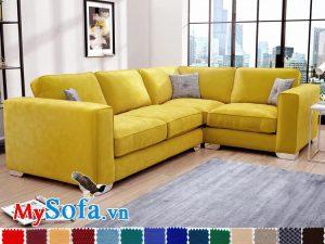 sofa goc L ke phong khach hien dai