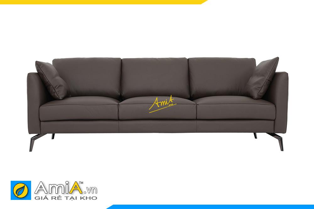 hình ảnh sofa văng chờ bọc da 3 chỗ ngồi hiện đại
