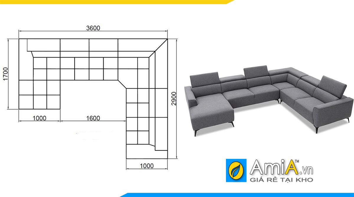 Kích thước ghế sofa góc