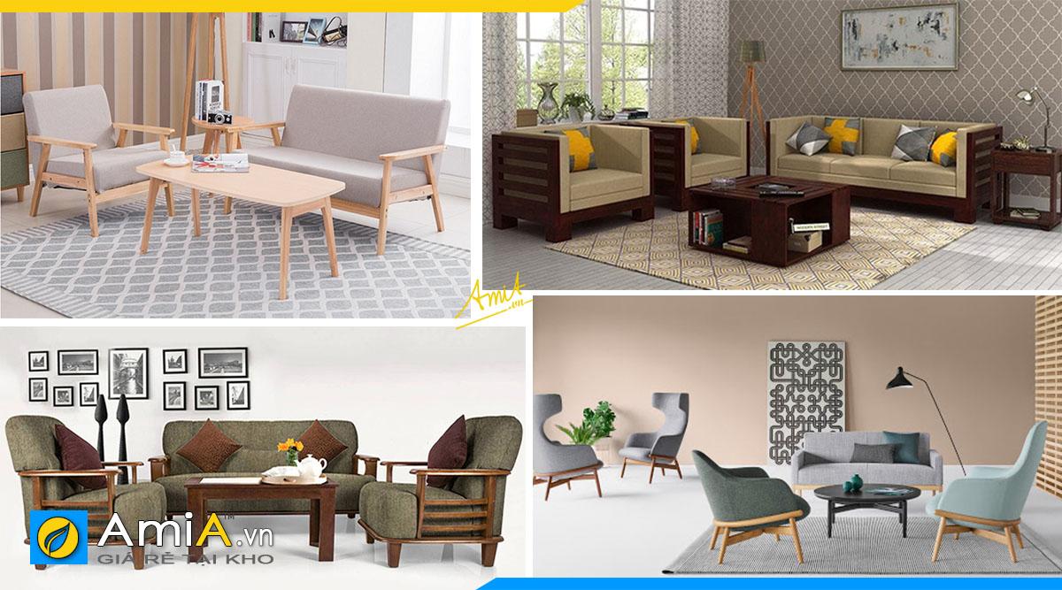 Hình ảnh các mẫu sofa gỗ văn phòng hiện đại