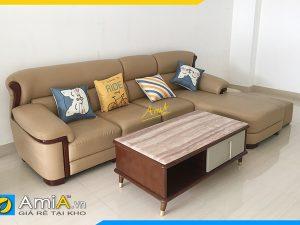 ghế sofa da đẹp dạng góc chũ L mã AmiA338